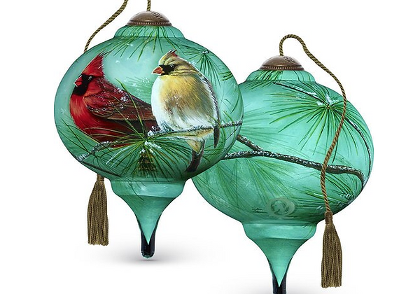 """Cardinals & White Pine"" Ornament"