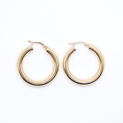Rose Gold Round Hoop Earrings