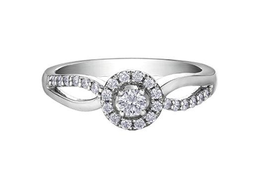 Brilliant Cut Canadian Diamond Halo Engagement Ring