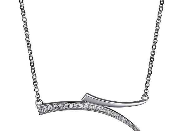 Silver Horizontal Horn Necklace