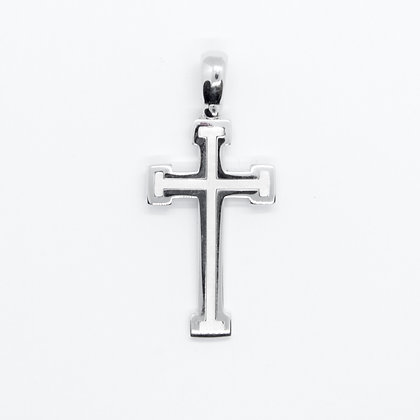 White Gold Cross Pendant (20mm)