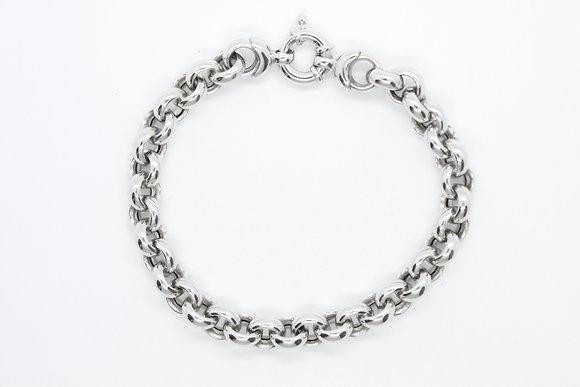 White Gold Rolo Link Bracelet