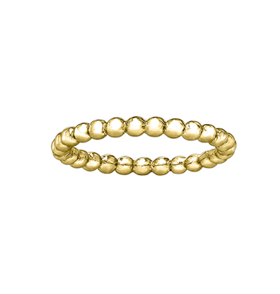 Yellow Gold Bubble Stackable Ring