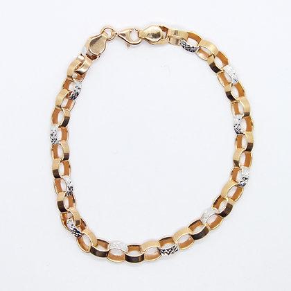 Rose Gold Flat Rolo Link Bracelet