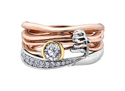 Seasons Sunset Diamond Ring