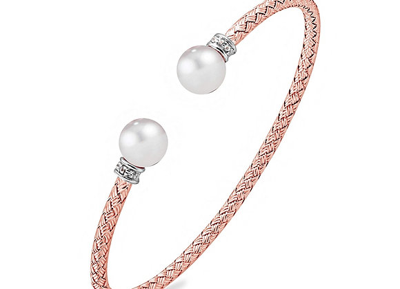 Rose Bangle with Pearls