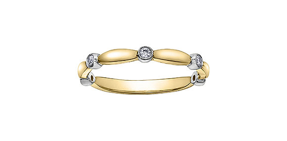 Two Tone Round Diamond Chi Chi Band