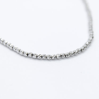 White Gold Textured Bead Chain
