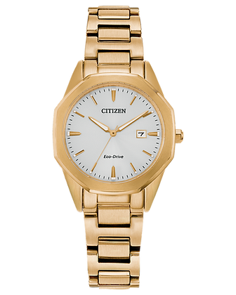 Citizen - Ladies Watch White Dial with Gold Band