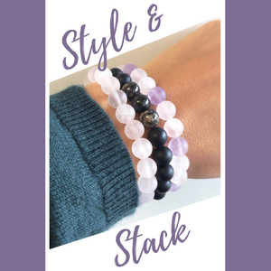 Stackable bead bracelets