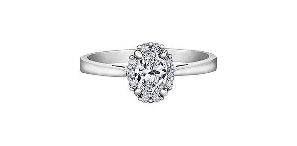 Oval Cut Diamond Halo Ring