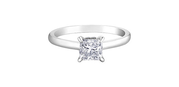 Princess Cut Solitaire Canadian Diamond Engagement Ring