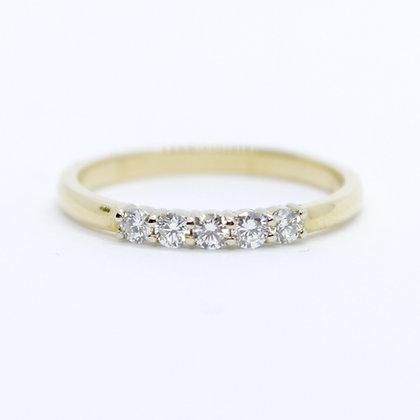 Yellow Gold Five Stone Diamond Band (0.20 carat)