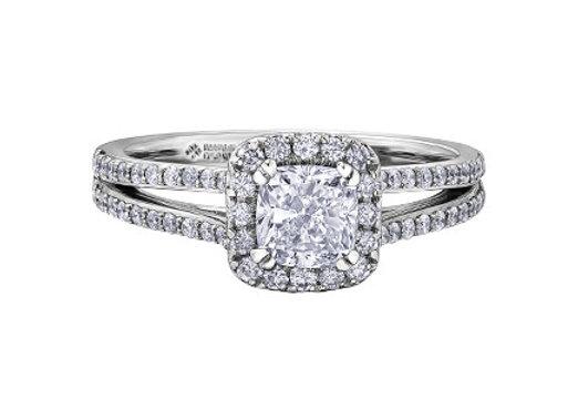 Cushion Cut Halo Canadian Diamond Ring