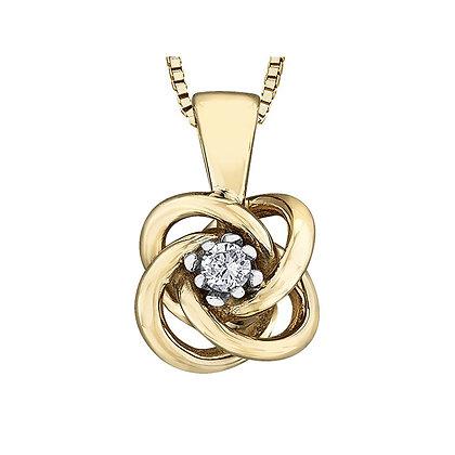 Gold Knot Diamond Pendant