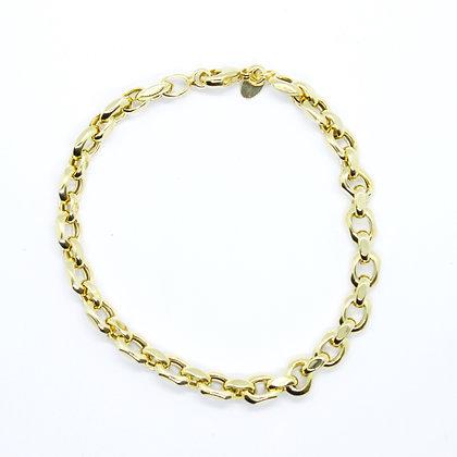 """Yellow Gold Fancy Rolo Link Bracelet (8"""")"""