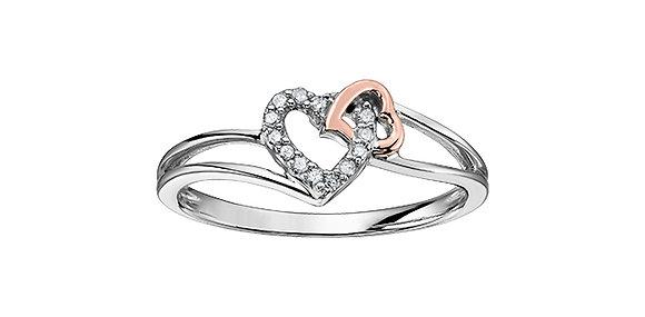 Diamond White Gold Heart Shaped Promise Ring