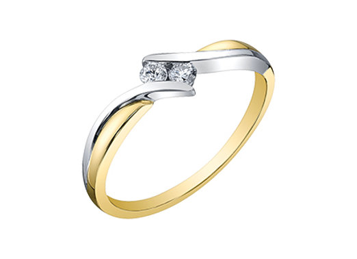Together Forever Two Tone Bypass Diamond Ring