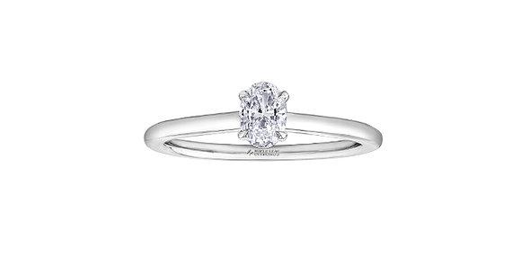 Oval Diamond Halo EngagementRing