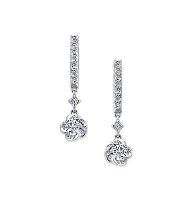 "Canadian Diamond ""Winds Embrace"" Drop Earrings"