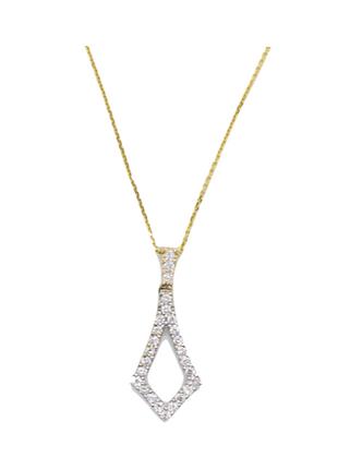 Tie Shaped Diamond Pendant
