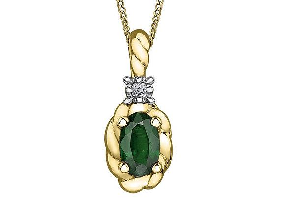Emerald Rope Pendant