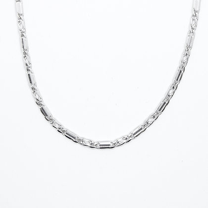 """White Gold Fancy Figaro Link Chain (18"""")"""