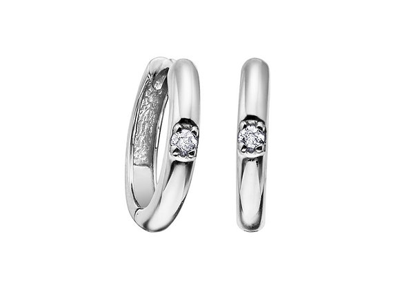 White Gold Canadian Diamond Small Hoops
