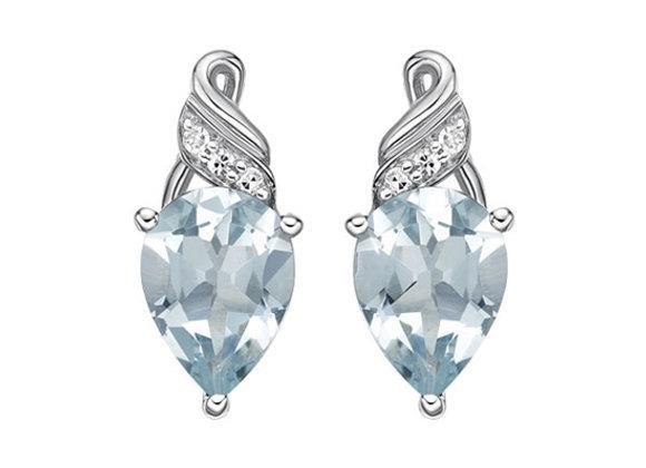 Pear Cut Aquamarine Earrings