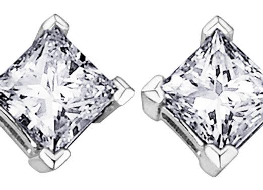 Princess Cut Canadian Diamond Studs
