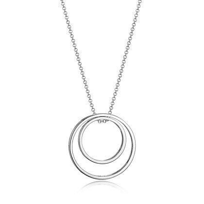 """ELLE """"Sphere"""" Necklace Double Open Circle"""