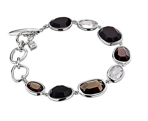 Silver Smoky Quartz Bracelet