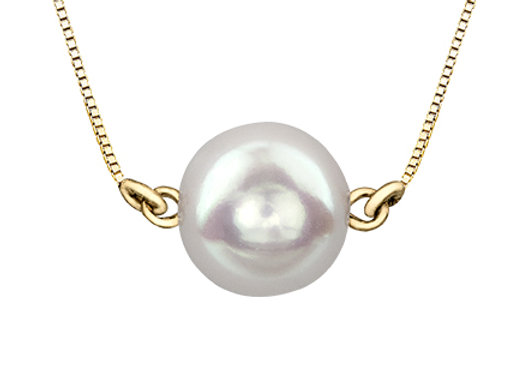 Suspended White Pearl Necklace