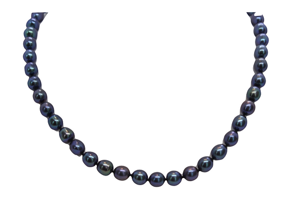 Black Fresh Water Pearl Necklace (6mm)