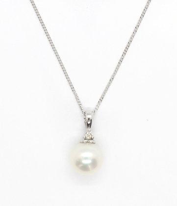 Natural Fresh Water Pearl Pendant (8mm)