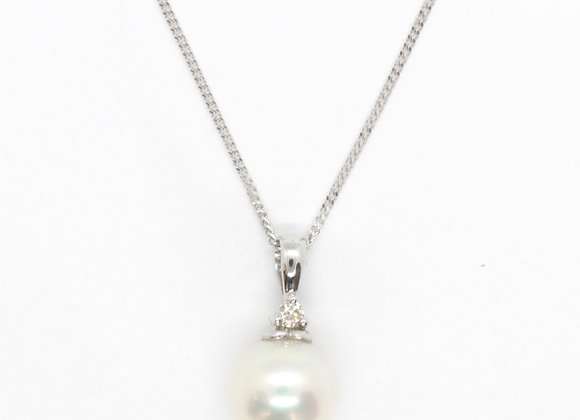 Natural Fresh Water Pearl Pendant (8mm)