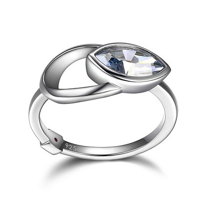 Silver Marquise Swarovski Crystal Ring