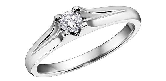Brilliant Cut Canadian Diamond Solitaire Ring