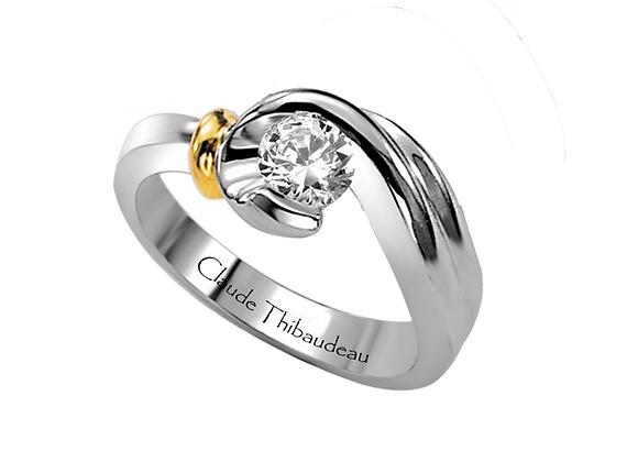 Claude Thibaudeau Wrap Around Engagement Ring