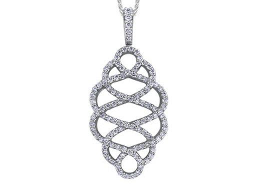 Interwoven Diamond Pendant