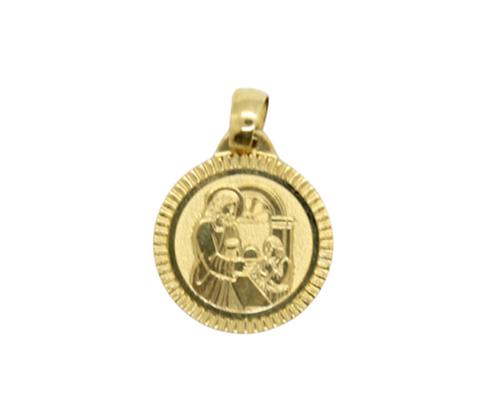 Yellow Gold Round Communion Pendant