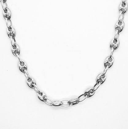 "White Gold Gucci Link Chain (20"")"