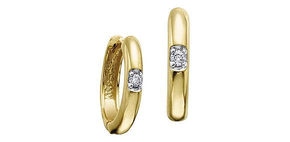 Yellow Gold Canadian Diamond Hoops