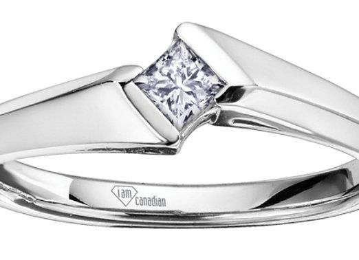 Princess Cut Canadian Diamond Ring
