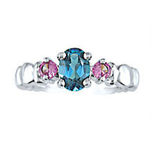 Blue & Pink Topaz Ring