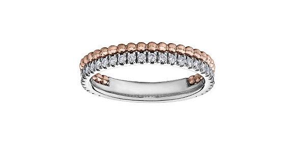 Double Band Diamond & Rose Chi Chi Ring