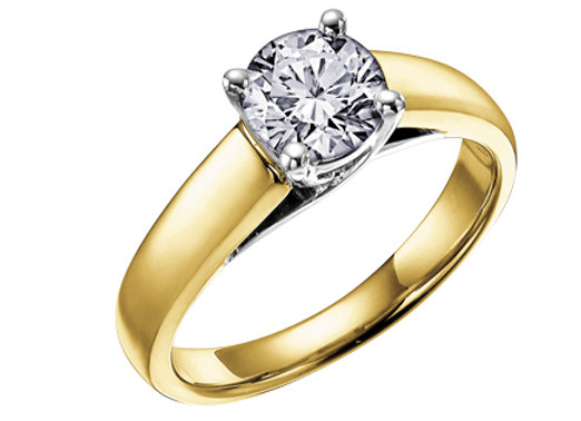 Yellow Gold Canadian Diamond Solitaire Engagement Ring