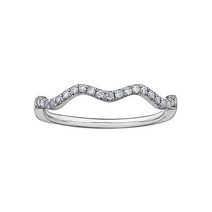 White Gold Diamond Wave Chi Chi Ring