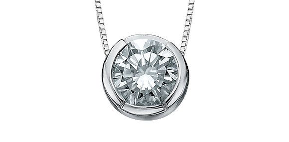 Brilliant Cut Bezel Set Canadian Diamond Pendant