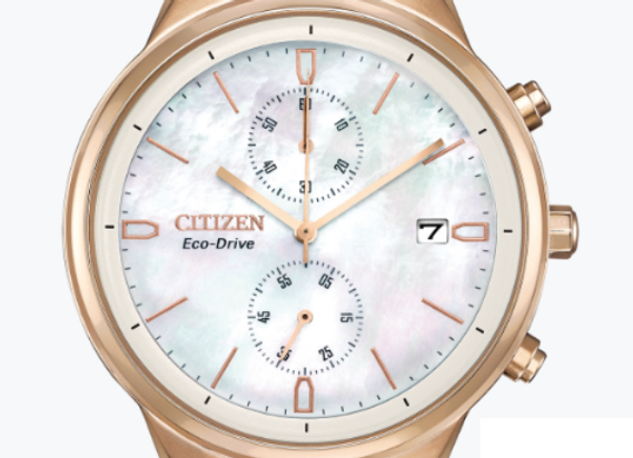 Olive Green & Rose Gold Citizen Watch